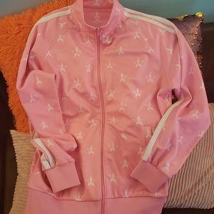 NWOT pink Jeffrey Star 🌟 track jacket xl